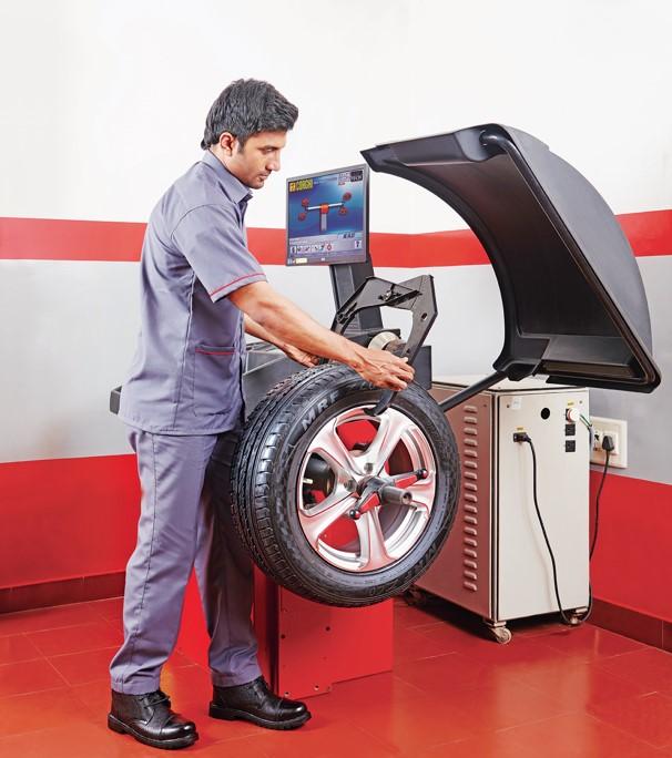 Computerised wheel balancing